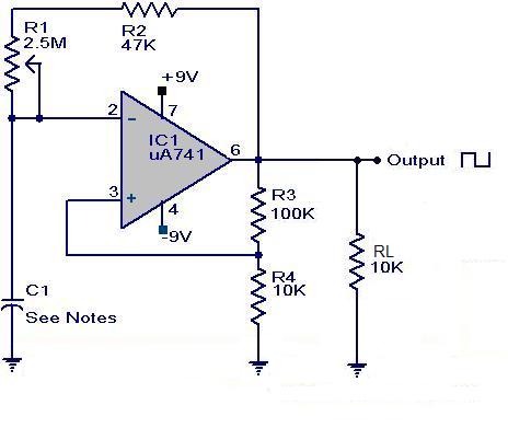 Ua 741 Square Wave Generator