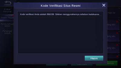 Kode Verifikasi Redeem Code