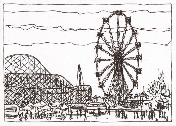 Laminas De Atracciones De Feria Para Pintar: Dibujos De Atracciones