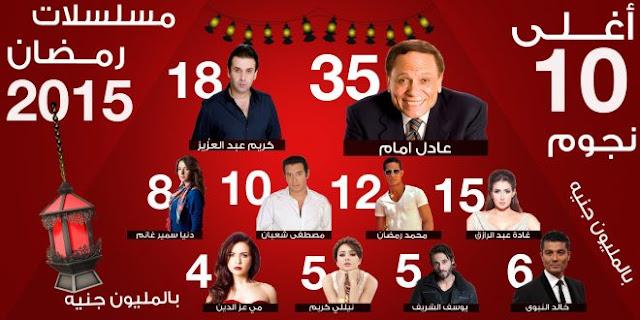 توقيت مواعيد موعد عرض مسلسلات رمضان 2016 في مصر ~ اسماء المسلسلات المصرية فى رمضان في الحياة 2