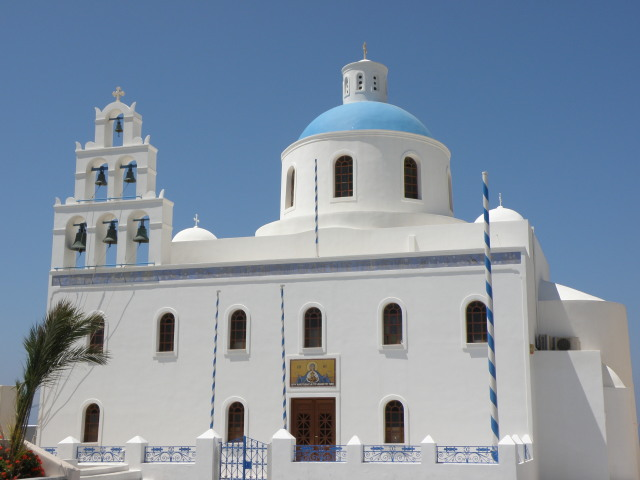 Kathedrale in Oia, Santorin
