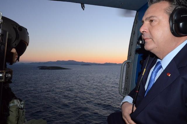 Σε Κάλυμνο - Ίμια (;) ο Καμμένος - Επίσκεψη απάντηση στις τουρκικές προκλήσεις