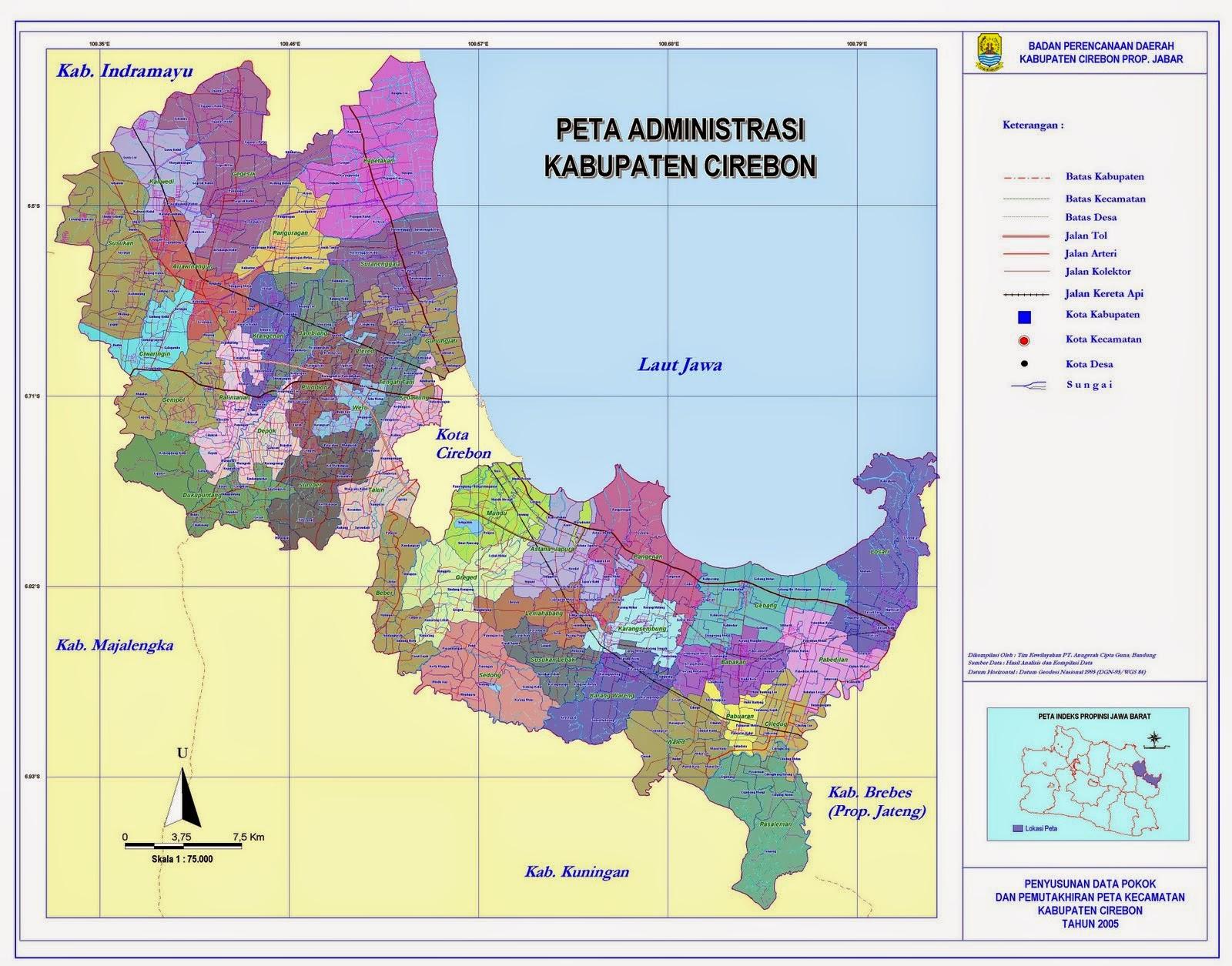 Pustaka Arief: Peta Kota dan Kabupaten Cirebon beserta 45 ...
