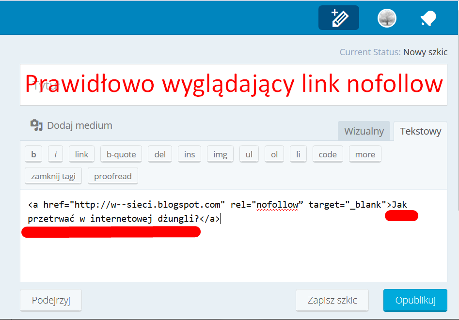 "Wordpress - rel=""nofollow"""