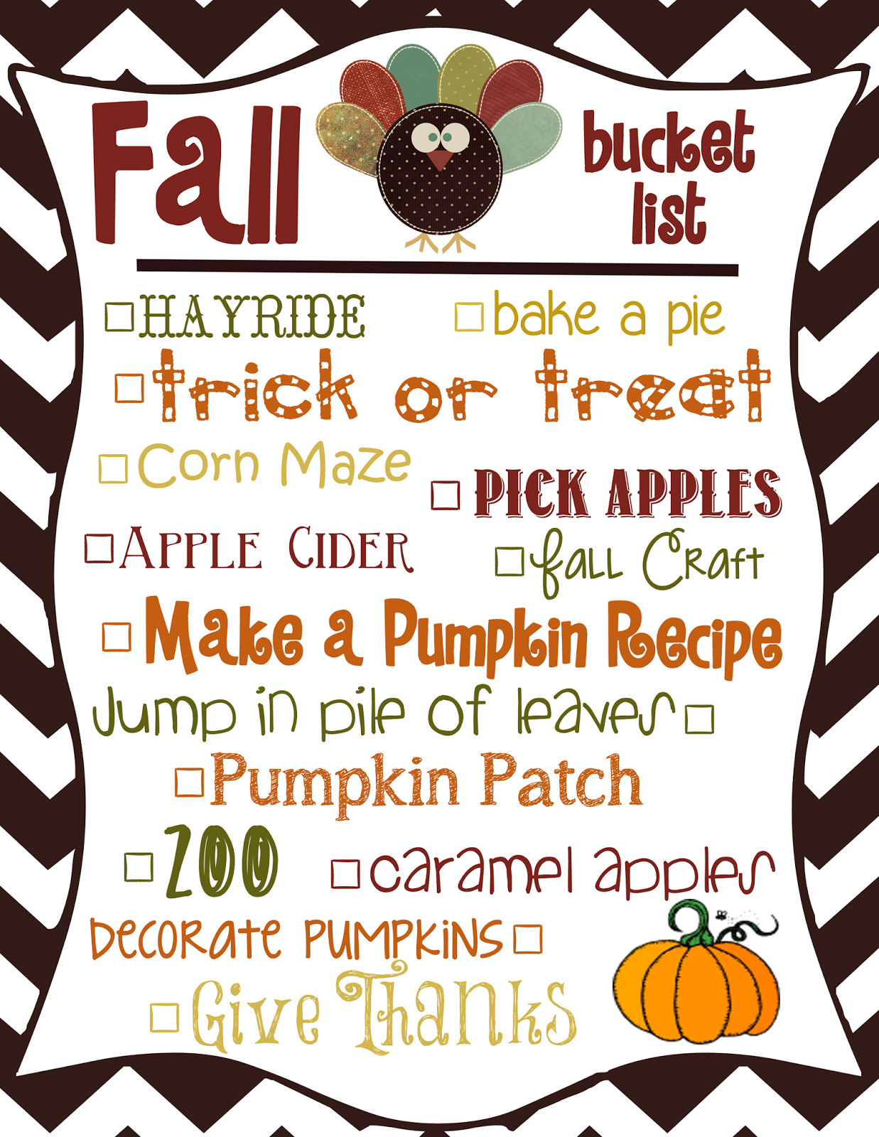 Mommy And Things Free Fall Printable