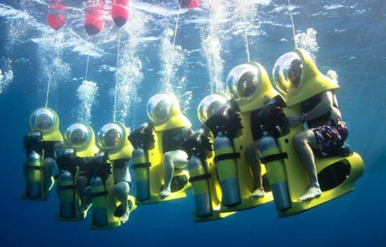 Underwater scooter tours on Oahu