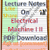 Lecture Notes on Electrical Machine I II PDF Material Download