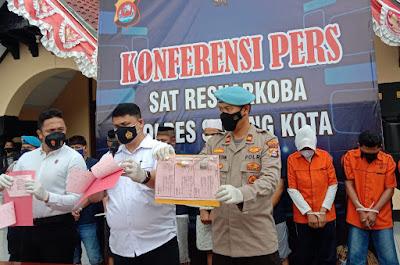 Delapan pengedar dan pemakai narkoba ditangkap Satresnarkoba Polres Serang Kota