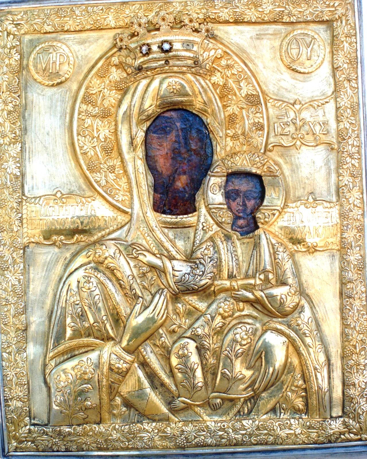 Αποτέλεσμα εικόνας για Θαυματουργής εικόνας της Παναγίας της Βουλκανιώτισσας προς την Μεσσήνη.