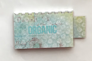 Handmade Baby Blue 'Organic' Blank Recipe Book for Personal Recipes on etsy. Click image for info.