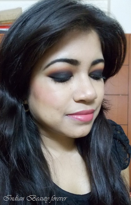 Party Makeup Smokey Black Eyes With Redneutral Lips Indian