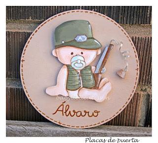 placa de puerta infantil bebé cazador babydelicatessen