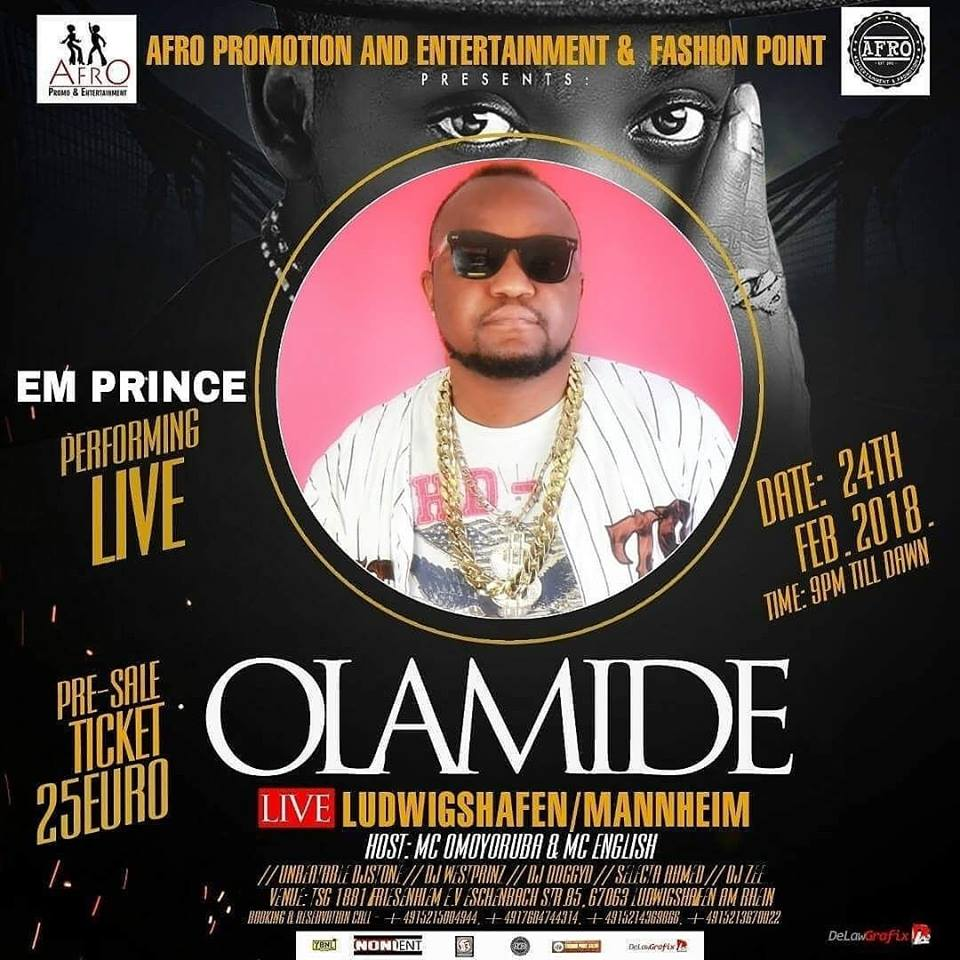 OLAMIDE BADDO with EM PRINCE Ready to set Germany on Fire