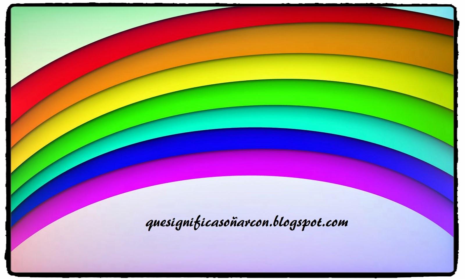 cual es el significado de soñar con rayos de luz como el arcoiris