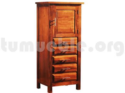 mueble auxiliar en teca 4069