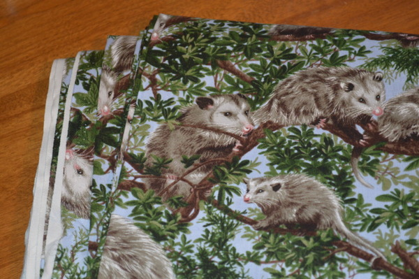 Backyard Bandits Possum Fabric