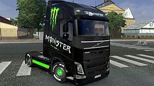 Volvo 2012 Monster Energy skin mod