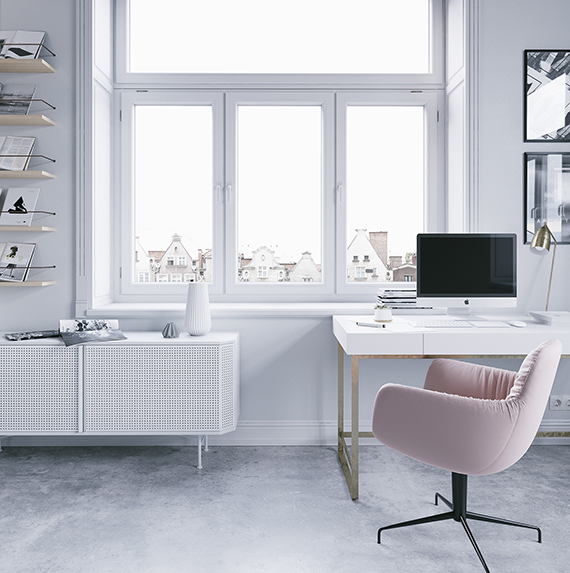 Bright calm workspace by Nefeli Kallianou