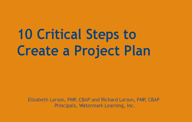 10 Critical Steps to Create a Project Plan