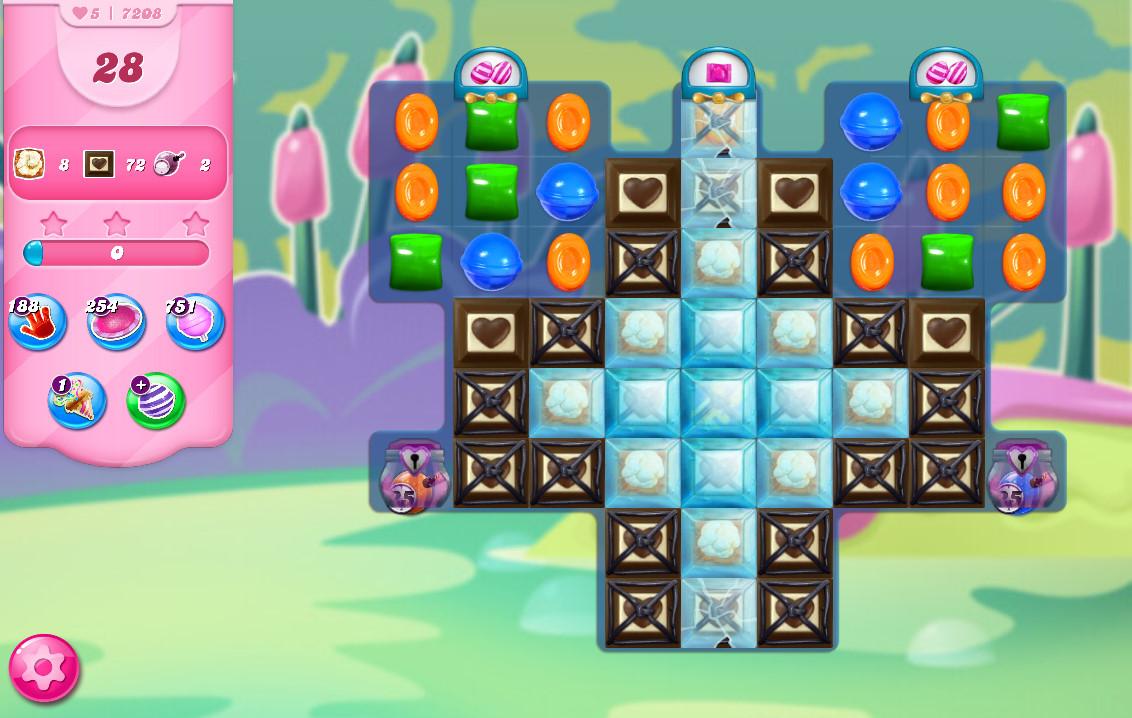 Candy Crush Saga level 7208