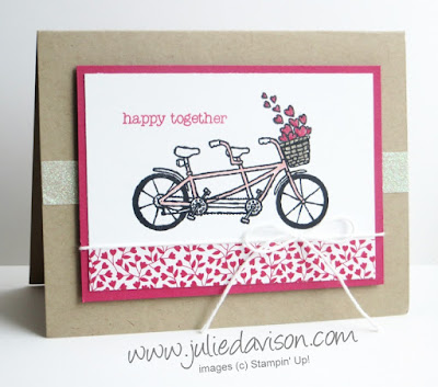 Sale-a-bration Sneak Peek: Pedal Pusher Valentine's Day Card #saleabration #stampinup #valentine www.juliedavison.com