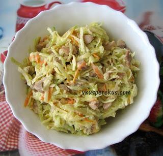 Салат из редьки с мясом