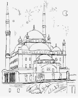 Kumpulan Contoh Gambar Sketsa Masjid Sederhana Informasi Masa Kini