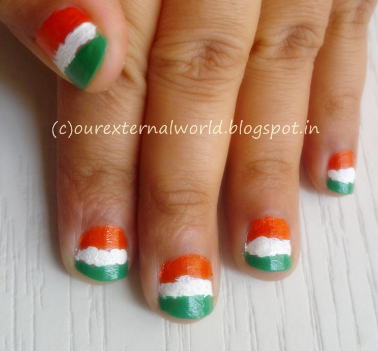 Indian Independence Day Nail Art The Tiranga