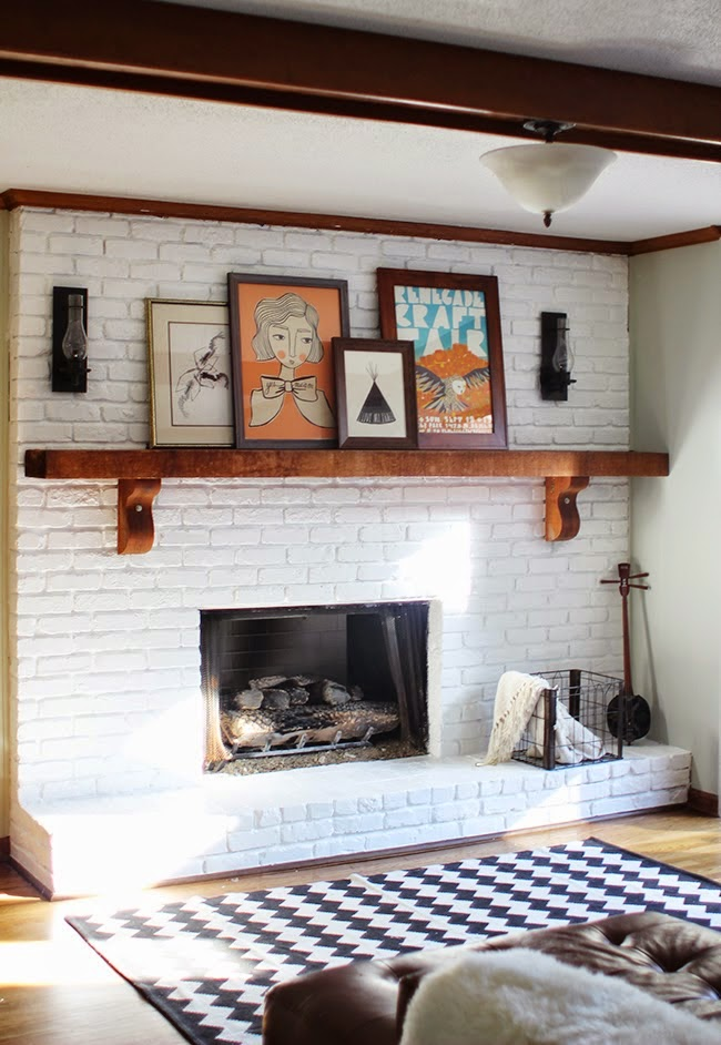 Hodorowski homes how to style your fireplace at home - Red brick fireplace makeover ideas ...