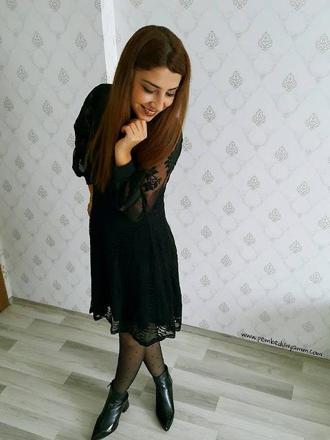 sassymyprom siyah elbise