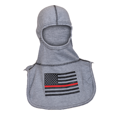 Majestic PAC II Firefighter Support Fire Ink Hood, Rayon Kevlar with Red-Striped Flag