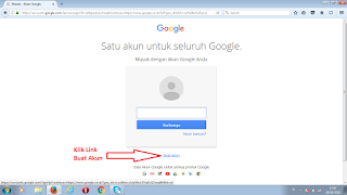 Halaman Login Akun Google
