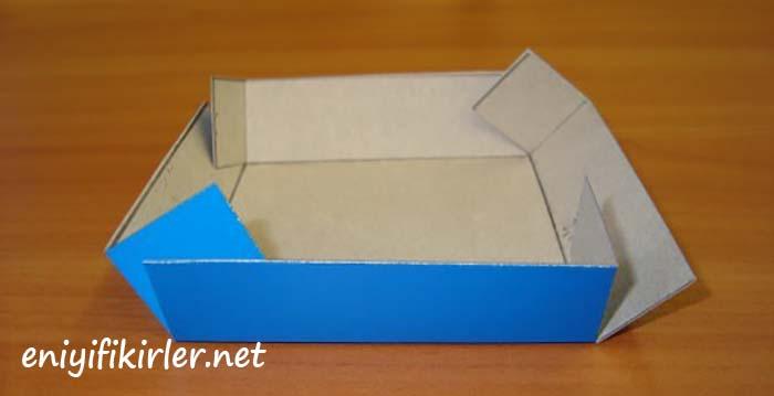 kağıttan hediye paketi yapımı