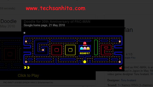 Google search games - Pac Man