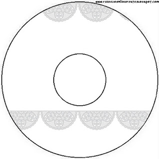 Silver Lace Free Printable CD Labels.