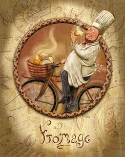 Carteles Retro de Chefs Franceses.