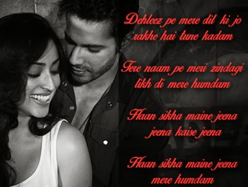jeena jeena lyrics badlapur