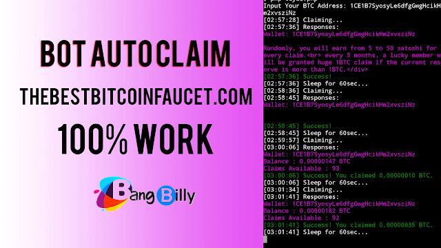 Bot Auto Claim Bitcoin Termux 100% Work