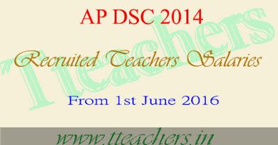 AP DSC 2014 Teachers Salaries from 1st June 2016