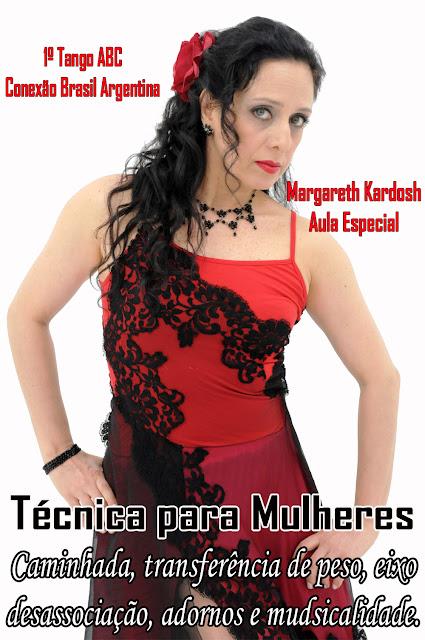 Margareth Kardosh - 1º Tango ABC. Técnica para Mulheres