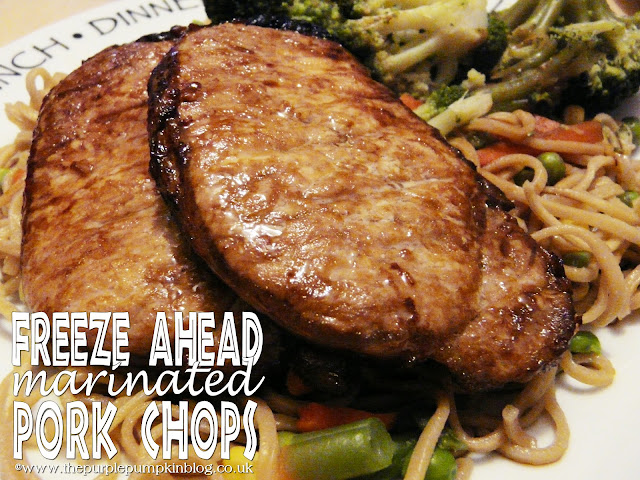 Freeze Ahead Marinated Pork Chops | The Purple Pumpkin Blog