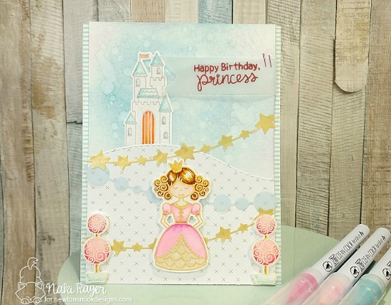 Princess Card by Naki Rager | Once Upon a Princess stamp set by Newton's Nook Designs #newtonsnook #princess #handmade