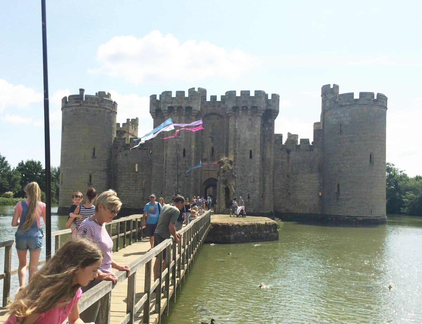 Walk Up To Bodiam Castle