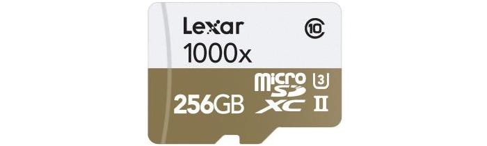 レキサー Lexar Professional 1000x microSDXC 256GB(LSDMI256CBJPR1000R)の製品仕様を紹介
