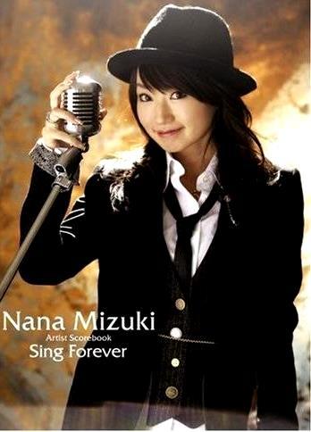 Foto de Nana Mizuki en portada de disco