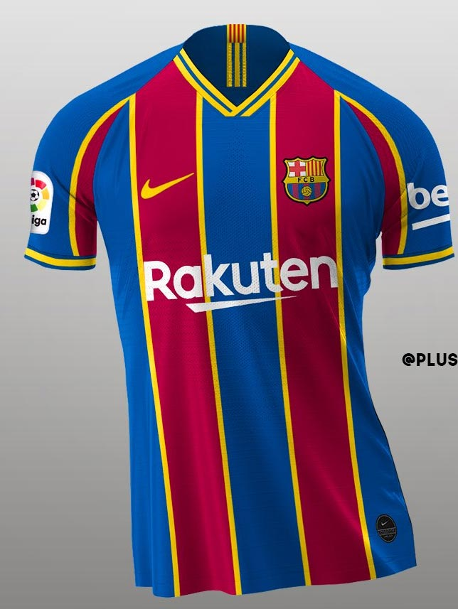 based on leaked info how the nike fc barcelona 20 21 home away third kits could look like footy headlines how the nike fc barcelona 20 21 home