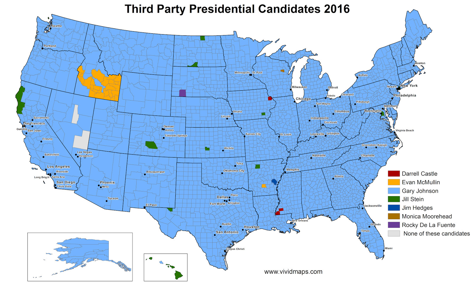 Third party presidential candidates 2016