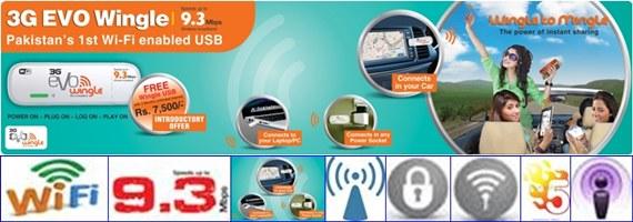 3G Evo Wingle - A USB Dongle with Wi-Fi Hotspot