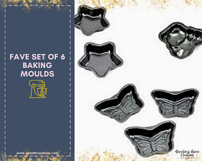 You should get: Set of 6 Baking Moulds (assorted sizes and designs) – FAVE RM35