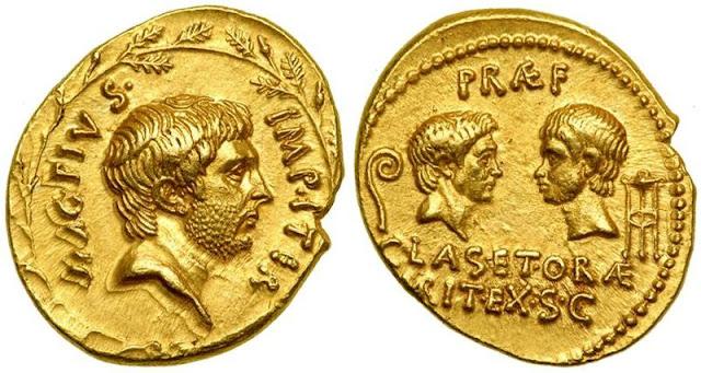 monedas de Sexto Pompeyo